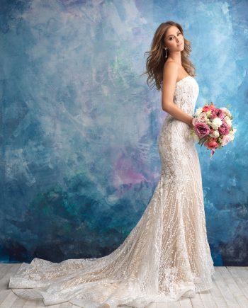 9550B Allure Bridals Brudklänning, Brudklänningar, bröllopsklänningar, Bröllopsbutik, Allure woman, Madison james, Allure Couture, Allure Modest