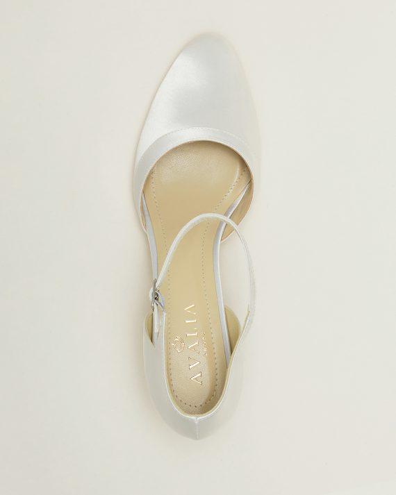 Brudskor från Bianco evento, Avalia shoes, vita brudskor, Ivory brudskor, brudskor i spets, brudskor i satin