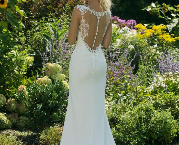 11009_FB Brudklänning, bröllopsklänning, sweetheart, Justin alexander, Djup rygg, Bröllopsbutik Malmö